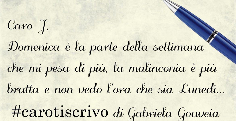Lettera di Gabriela Gouveia