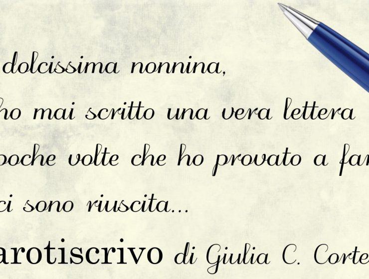 Lettera di Giulia Chiara Cortese