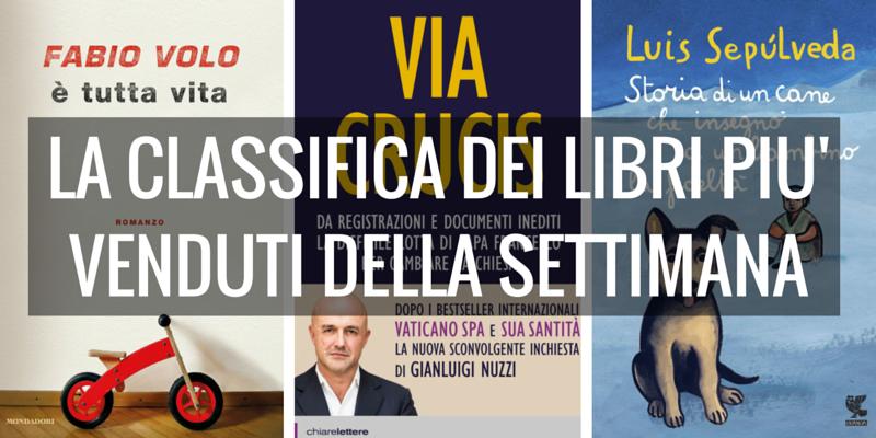 """""""E' tutta vita"""" di Fabio Volo al 1° posto dei libri più venduti della settimana"""