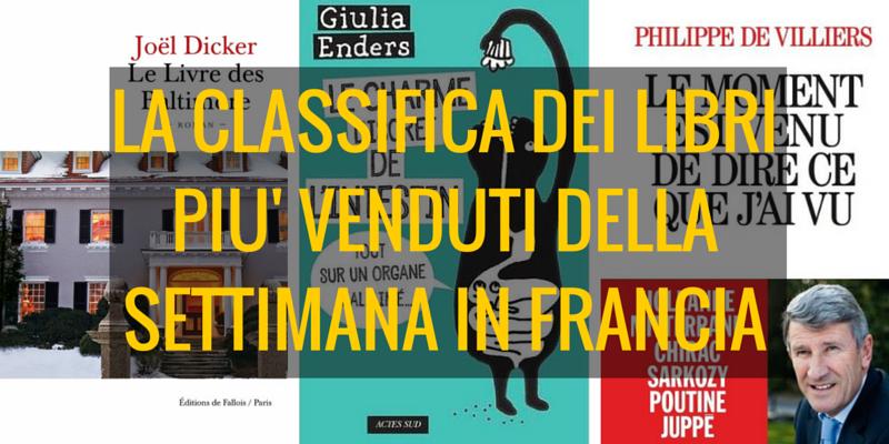 La classifica dei libri più venduti della settimana Francia