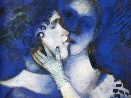 Marc Chagall Gli amanti in blu