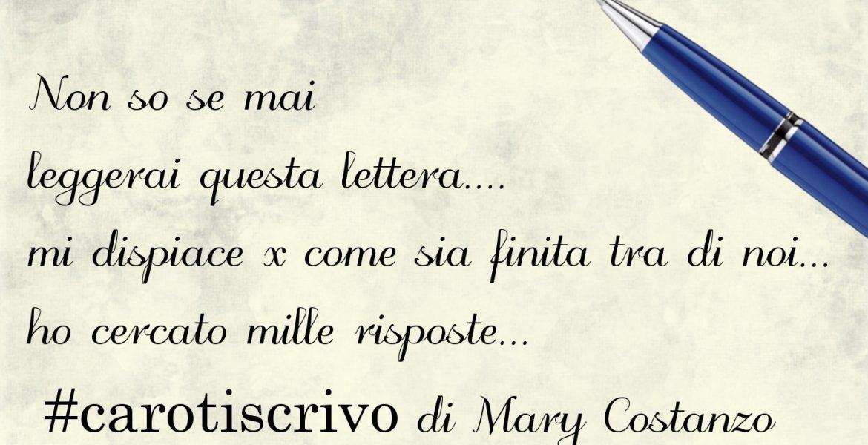Lettera di Mary Costanzo