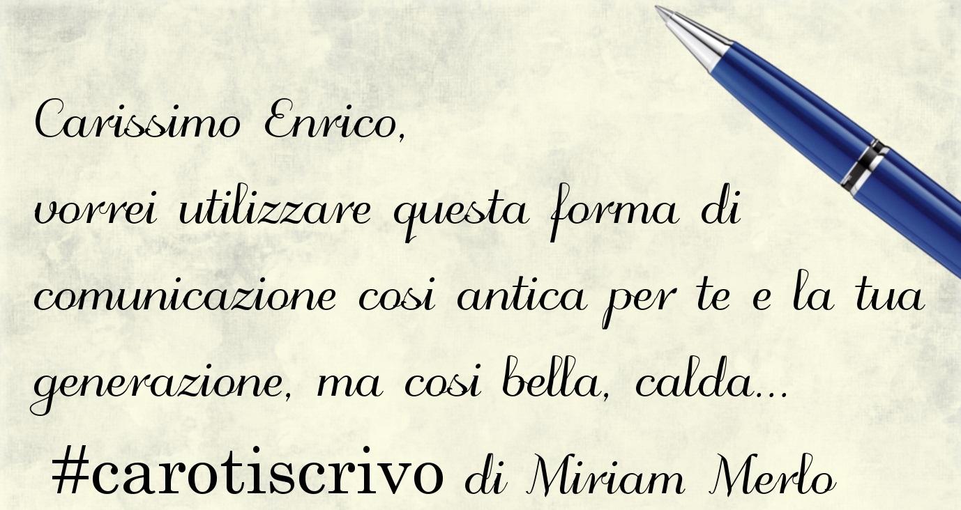 Lettera di Miriam Merlo al figlio