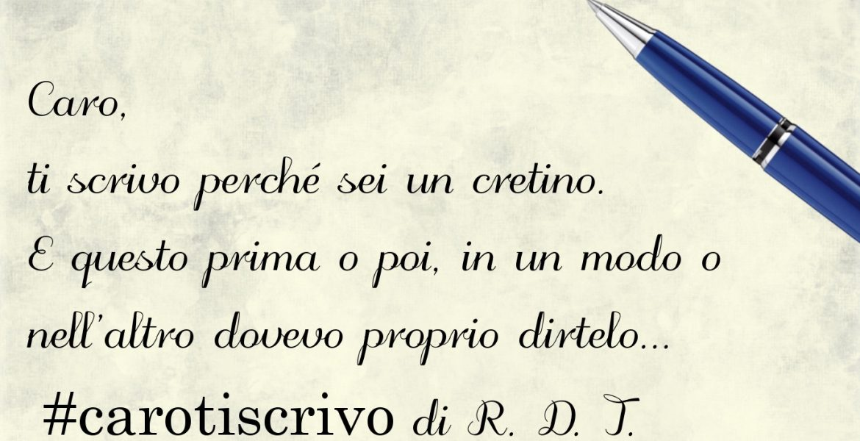 Lettera di R. D. T.