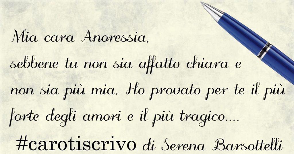 Lettera di Serena Barsottelli