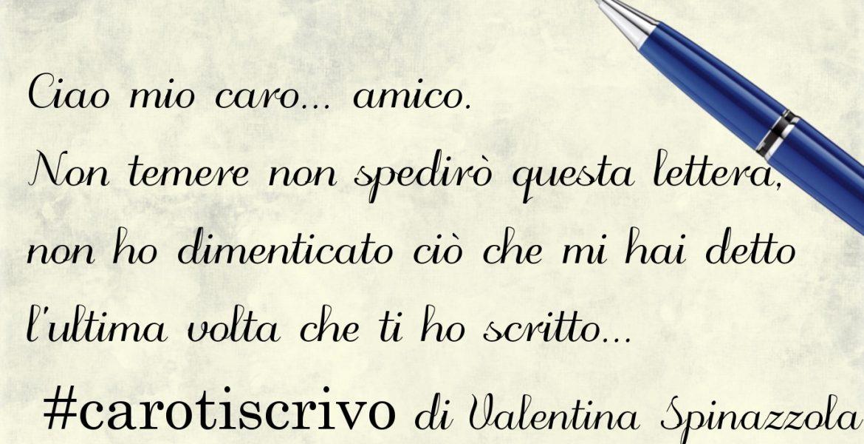 Lettera di Valentina Spinazzola