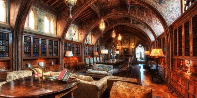 La magica biblioteca del castello di Hearst