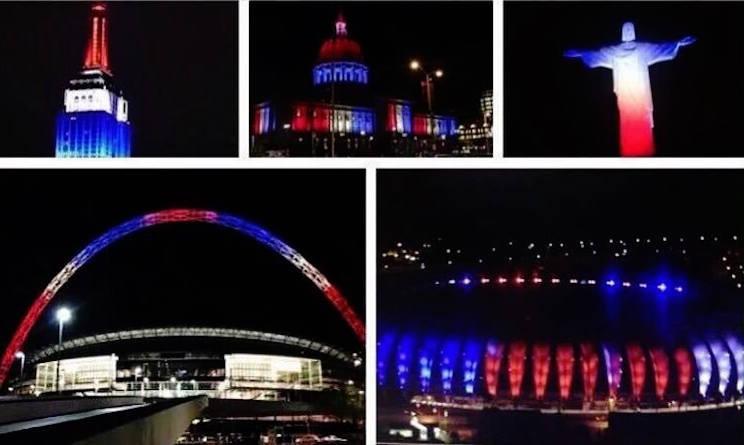 Attentato di Parigi, i monumenti di tutto il mondo illuminati col tricolore francese