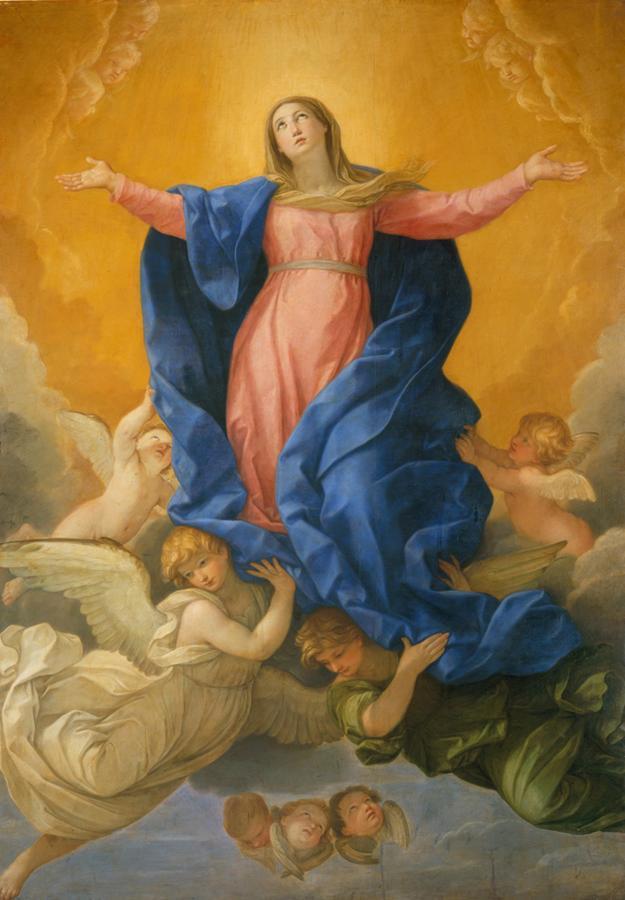 Guido Reni 1575 - 1642 Die Himmelfahrt Mariae 1631/1642 Seide, 295 x 208 cm München, Alte Pinakothek