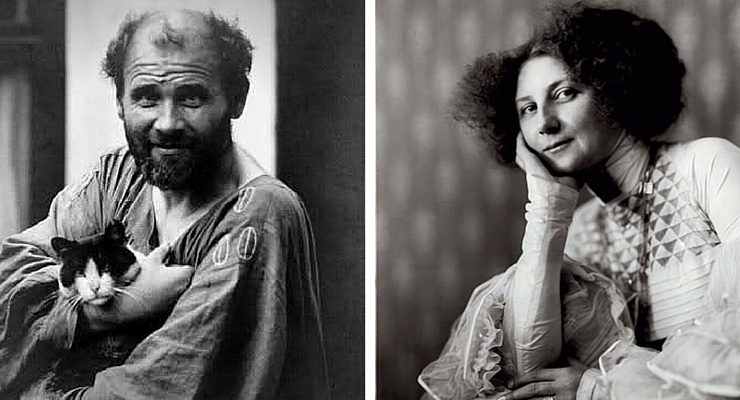Gustav Klimt e la sua musa Emile Flöge.