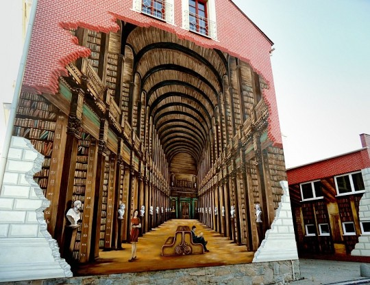 2 Street-art-Library-Mural-poland-ustron-library