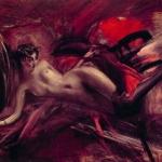 Nudo artistico, le 10 opere d'arte italiane più famose |  La marchesa Casati nuda con le calze scure, Giovanni Boldini