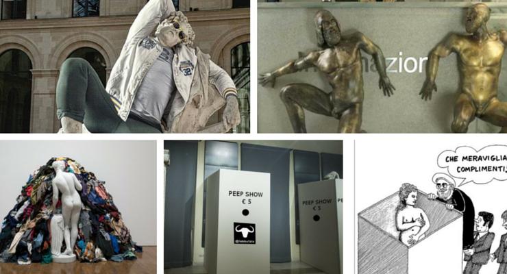 Statue coperte ai Musei Capitolini, le reazioni sui social network
