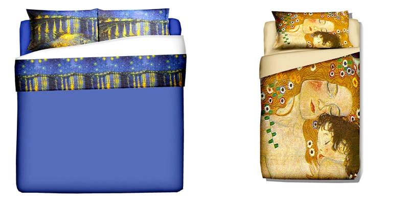 Home decore, ecco le lenzuola ispirate a Van Gogh e Klimt