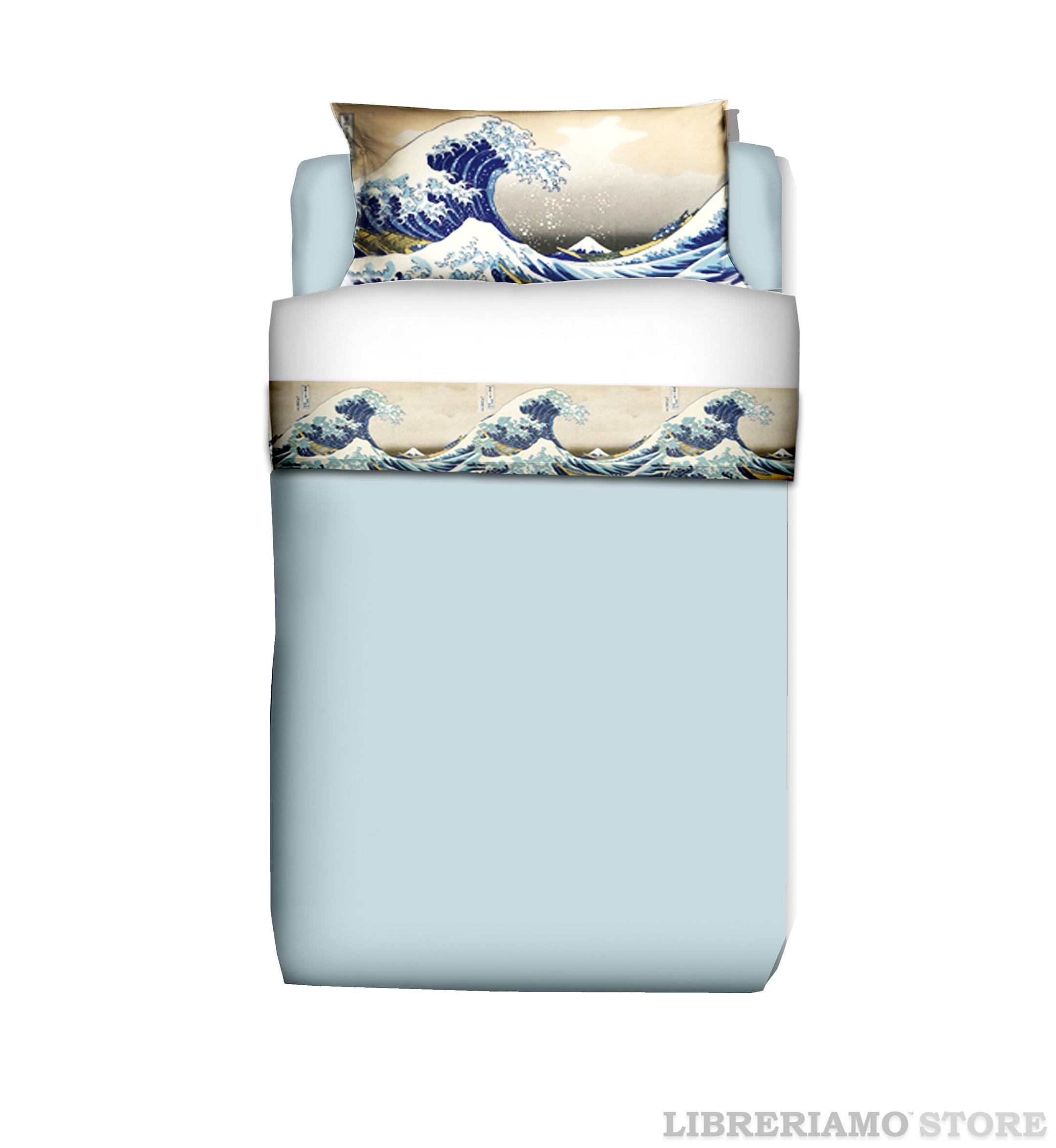 parure-lenzuola-singolo-arredo-arte-hokusai-la-grande-onda-di-kanagawa-manifatturecotoniere-libreriamostore