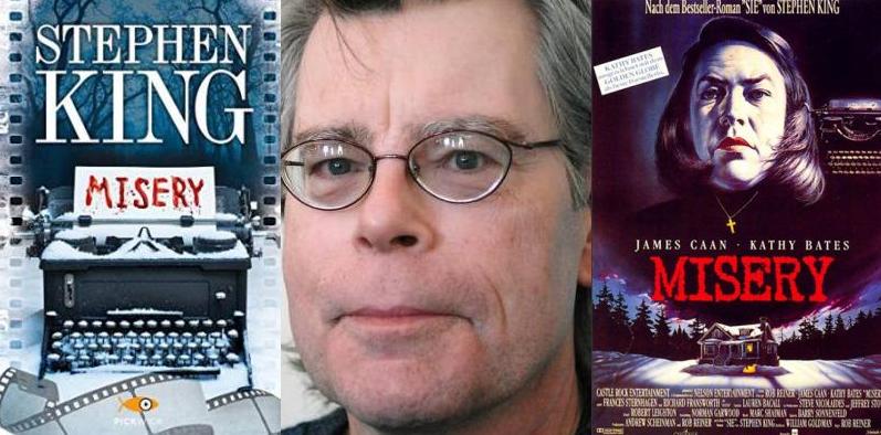 Misery di Stephen King, la fama dello scrittore di successo diventa incubo