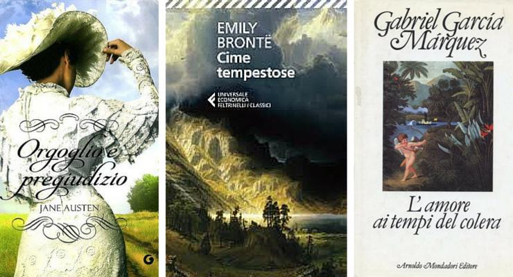 I 10 romanzi d'amore preferiti dai lettori