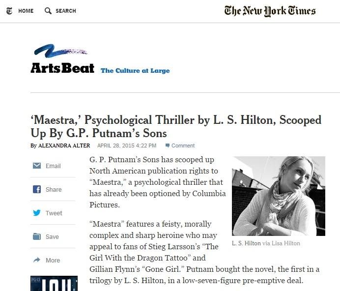 Articolo New York Times