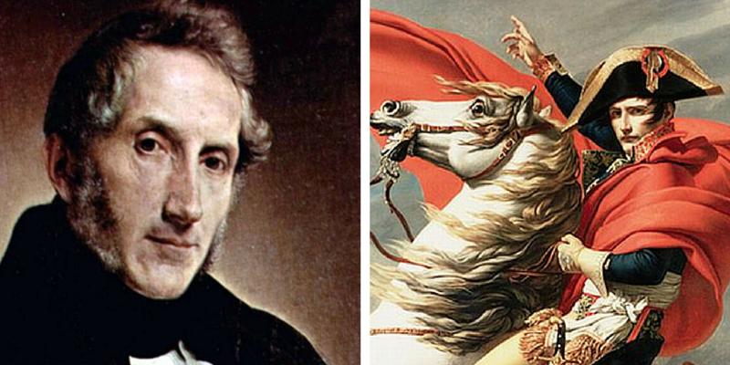 In questa famosissima ode, il poeta e scrittore milanese ricorda la figura del grande generale francese,che da solo cambiò il volto dell'Europa