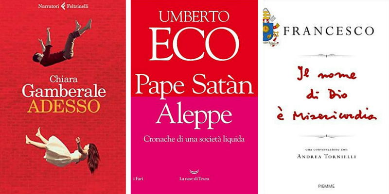 """""""Pape Satan Aleppe"""" di Umberto Eco al 2° posto dei libri più venduti della settimana"""