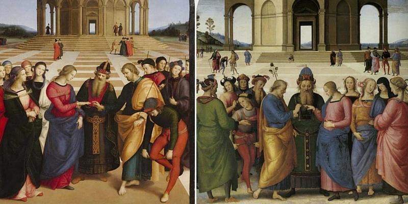 Raffaello e Perugino, a Brera per la prima volta i due Sposalizi