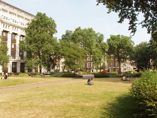 Bloomsbury Square Gardens and Victoria House London geograph.org .uk 196540