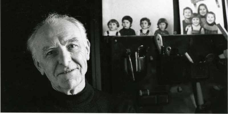 Robert Doisneau photographed by Bracha L. Ettinger in his studio in Montrouge 1992