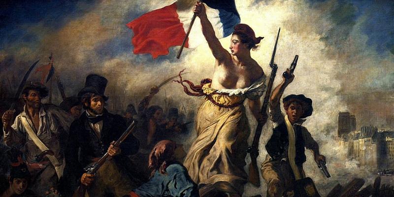 """""""La Libertà che guida il popolo""""  - Delacroix"""