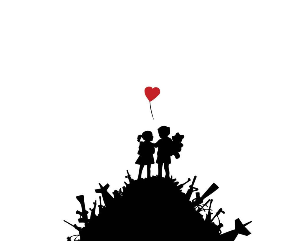 Banksy - Kids on guns