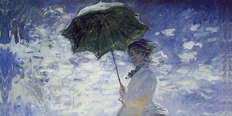 """Camille Monet nel quadro """"Donna con parasole"""""""