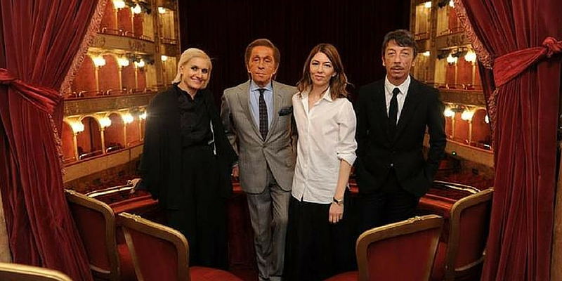 Nella foto Sofia Coppola e Valentino