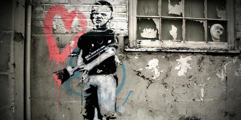 Heart boy - Banksy