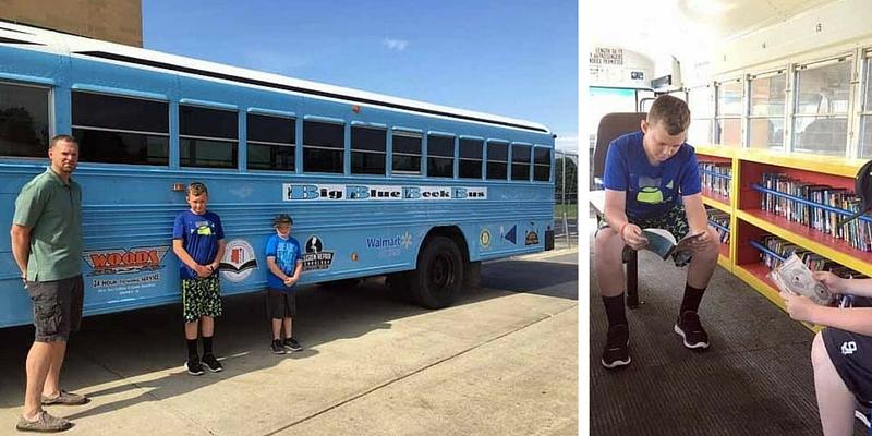 Parte il Big Blue Book Bus, per far leggere i ragazzi durante l'estate