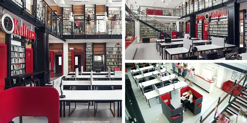 """""""Stazione Culturale"""", in Polonia centro ferroviario trasformato in una biblioteca moderna ed innovativa"""