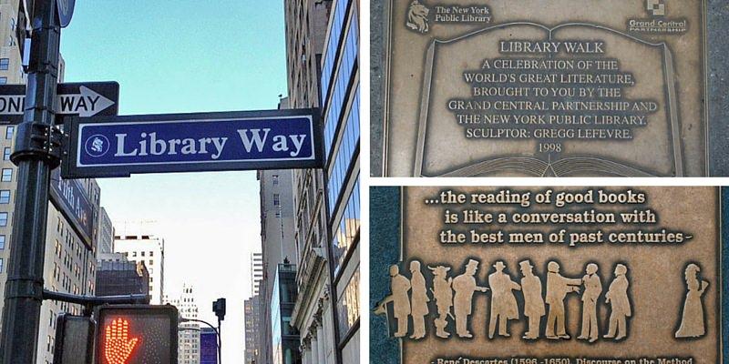 """""""Library Way"""", sui marciapiedi di New York gli aforismi degli scrittori più amati"""