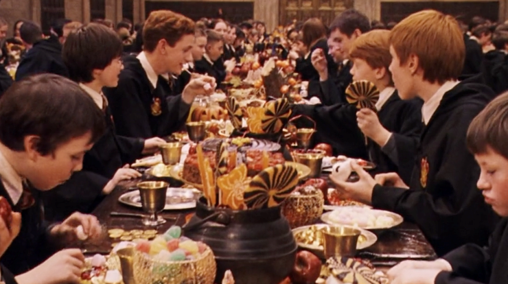 Harry Potter, colazione ad Hogwarts