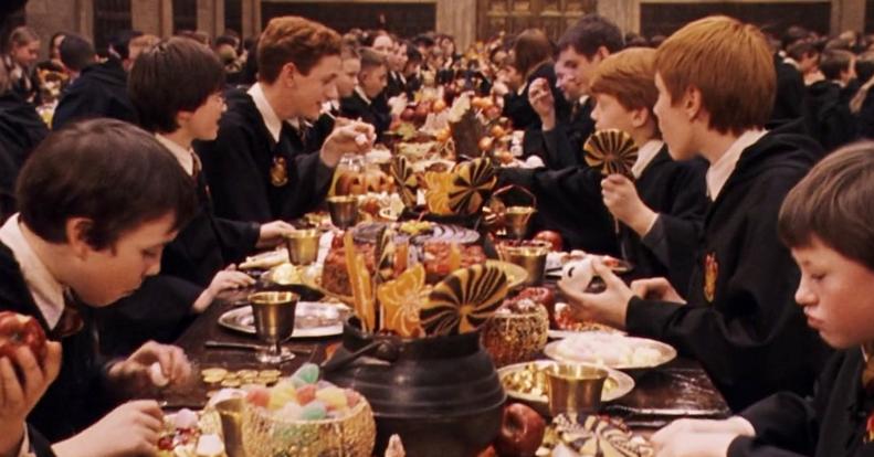Harry Potter, colazione ad Hogwarts