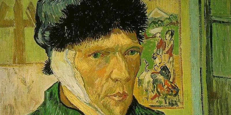 «Autoritratto con l'orecchio bendato» di Vincent Van Gogh