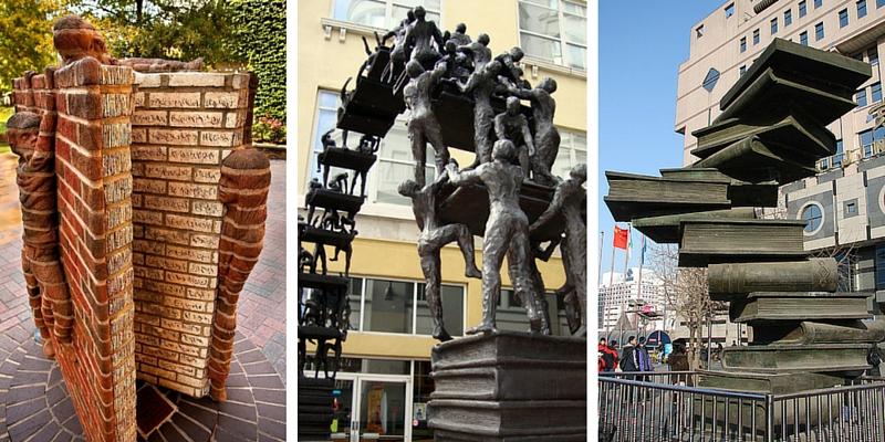 Le statue letterarie più belle al mondo, per promuovere la lettura in strada