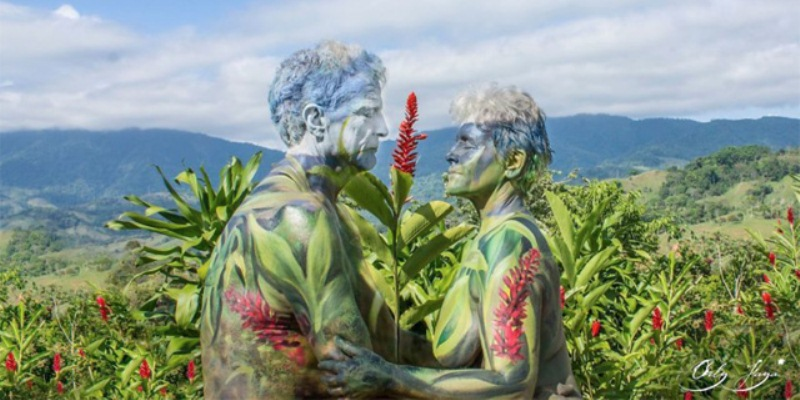 Body painting ed arte s'incontrano nell'opera della fotografa Orly Faya