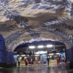 La metropolitana di Stoccolma | Stazione metropolitana di T-Centralen dell'artista Per Olof Ultvedt (Foto di Alexander Dragunov)
