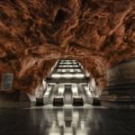 La metropolitana di Stoccolma | Stazione metropolitana di Rådhuset dell'artista Sigvard Olsson (Foto di Alexander Draguonov)