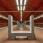 La metropolitana di Stoccolma | Stazione metropolitana di Skarpnäck dell'artista Richard Nonas (Foto di Alexander Dragunov)