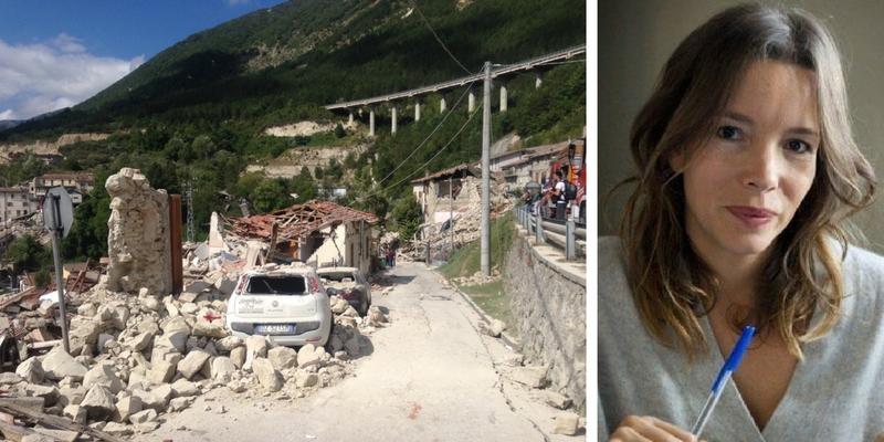 Simona Sparaco, ''Il terremoto di stanotte ci ricorda quanto siamo piccoli ed impotenti rispetto alla natura''
