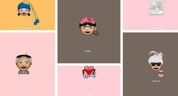 Arrivano le Emoji ispirate ai grandi artisti ed alle loro opere