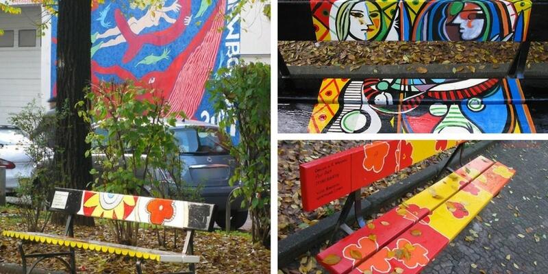 Le panchine d'autore di Torino, per promuovere l'arte in strada