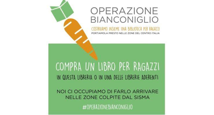Operazione Bianconiglio, libri per aiutare i bambini colpiti dal terremoto