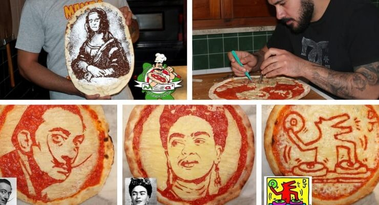 PizzArte, arrivano dal Sud Italia le pizze ispirate ad artisti ed opere d'arte