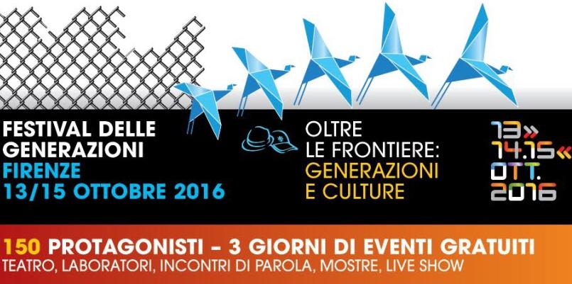 """""""Oltre le frontiere"""", al via il Festival delle Generazioni a Firenze"""