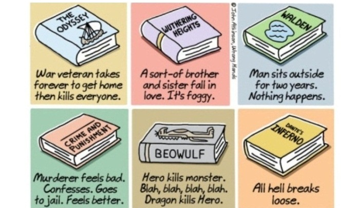 John Atkinson, il vignettista che riassume i grandi classici della letteratura